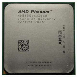 AMD Phenom X3 8650 三核三線 AM2+ / 2.3G / L3 - 2 MB 處理器、散裝、拆機良品
