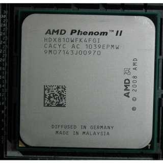 AMD Phenom II X4 810 四核心處理器 Socket AM3 / AM2+、拆機良品〈單處理器無附風扇〉