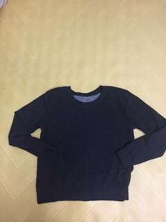 🚚 H&M 深灰長袖衛衣s size 標籤已經剪掉