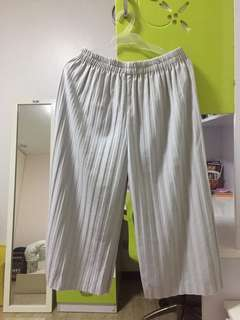 Electric pleated gray pants