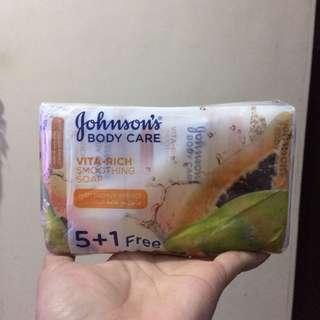 6pcs Johnsons Papaya Soap