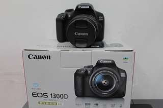 Canon 1300D Like new pemakaian 3bln No Minus