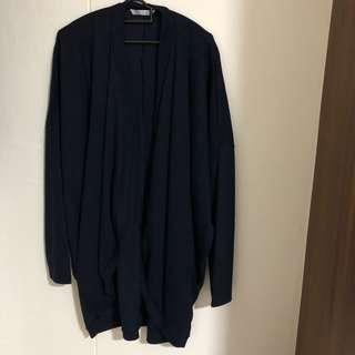 Navy blue cardigan (XL TO 2XL) plus size long sleeve