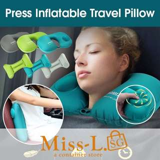 🌼PRESS INFLATABLE TRAVEL PILLOW