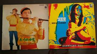 LAU SIU HANG ● SHI DA LE BAND 賴紹恆演奏 ● 世多樂樂隊演奏 chinese classic music ( pipe solo) / the latest pop music selection (3 Dimension sleeve cover ) ( buy 1 get 1 free )  vinyl record
