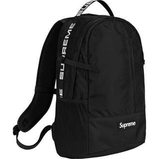 SUPREME 2018 BackPack 1050D CORDURA RIPSTOP Nylon. 24L 黑色