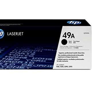 HP laserjet print cartridge for model 1160, 1320, 3390, 3392 Cartridge no Q5949A Black ink.