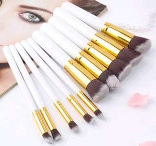 Kabuki 10pcs professional soft make-up brush set