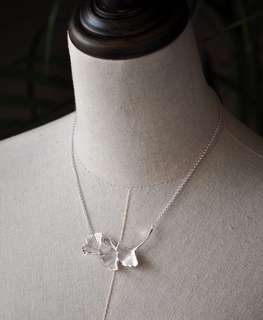 (Price reduced!) 925 silver ginkgo leaf necklace