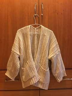 🚚 編織針織外套(淡粉)