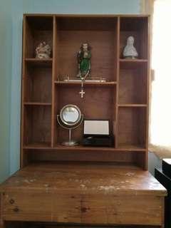 Study Table / Vanity Cabinet Varnish Wood