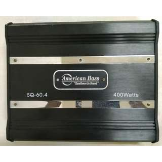 AMERICAN BASS SQ-60.4 4 CHANNELS CAR AMPLIFIER