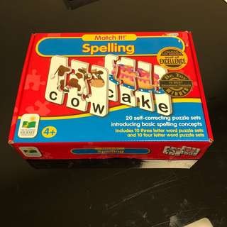 Match It! Spelling 20 Words Puzzle Set (Creative Toy Awards)