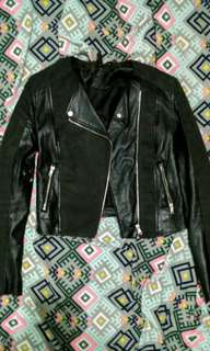 H&M faux leather jacket