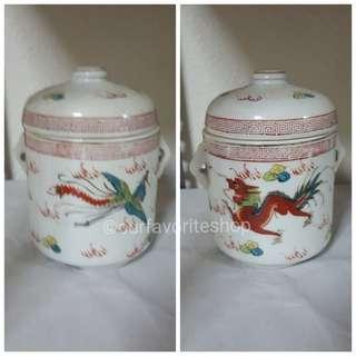 Vintage Petite Dragon Phoenix Tureen