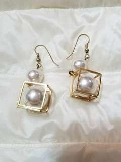 韓風 珍珠 特色 耳環 配飾 飾物