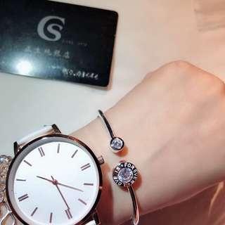 🚚 🌈香港正生純銀💕寶格麗好友—開環鑽手圈⭐️