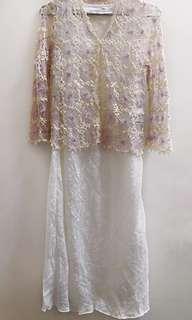 Lace Dress+鈎花外套