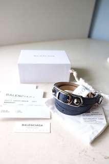 Price Reduced - Balenciaga Triple Tour Bracelet Metallic Edge