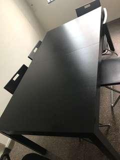 IKEA Table - Extendable table, 147/204x95 cm