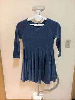 🚚 藍絲絨款洋裝