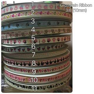 Grosgrain ribbons Disney Mickey Minnie cupcakes bee lollipop