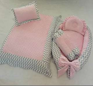 Baby nest kain (cotton + minky)