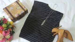Black n White Stripe Blouse