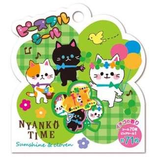日式 貓 貼紙 DIY 日記 手帳 畫冊 手冊