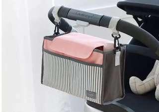 🌈(Ready Stock) 🆕Brand New Baby Stroller / Pram / Baby Cot Organizer Storage Bag Holder