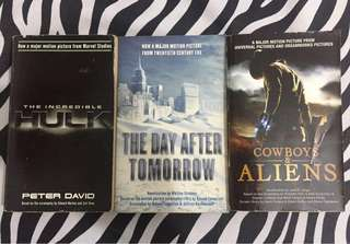 Movie Books Bundle: Incredible Hulk, The Day After Tomorrow, Cowboys and Aliens (REPRICED!!!)