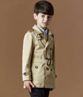 Children Kids Boy Khaki Winter Trench Coat