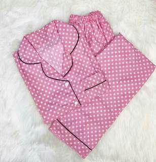 Baju tidur katun lengan pendek celana panjang