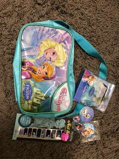Frozen set (bag, ring, nail sticker, wallet, badge and more!)