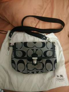 Coach black and grey sling bag