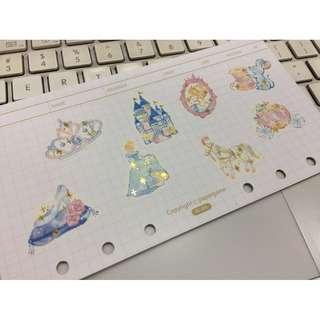 Fairytale Cinderella Glass Slippers 童話 灰姑娘 城堡 玻璃鞋 貼紙 文具控