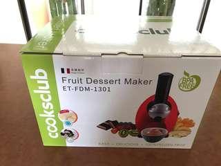 🚚 (全新)Cooksclub 水果冰淇淋機(萊姆黃)