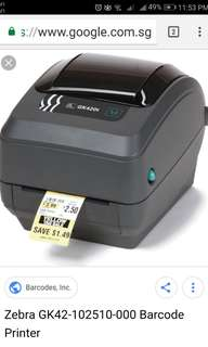 Zebra gk420t bar code printer
