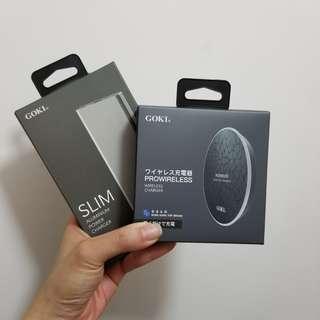 Goki 無線叉電器 + 充電器 10000mah