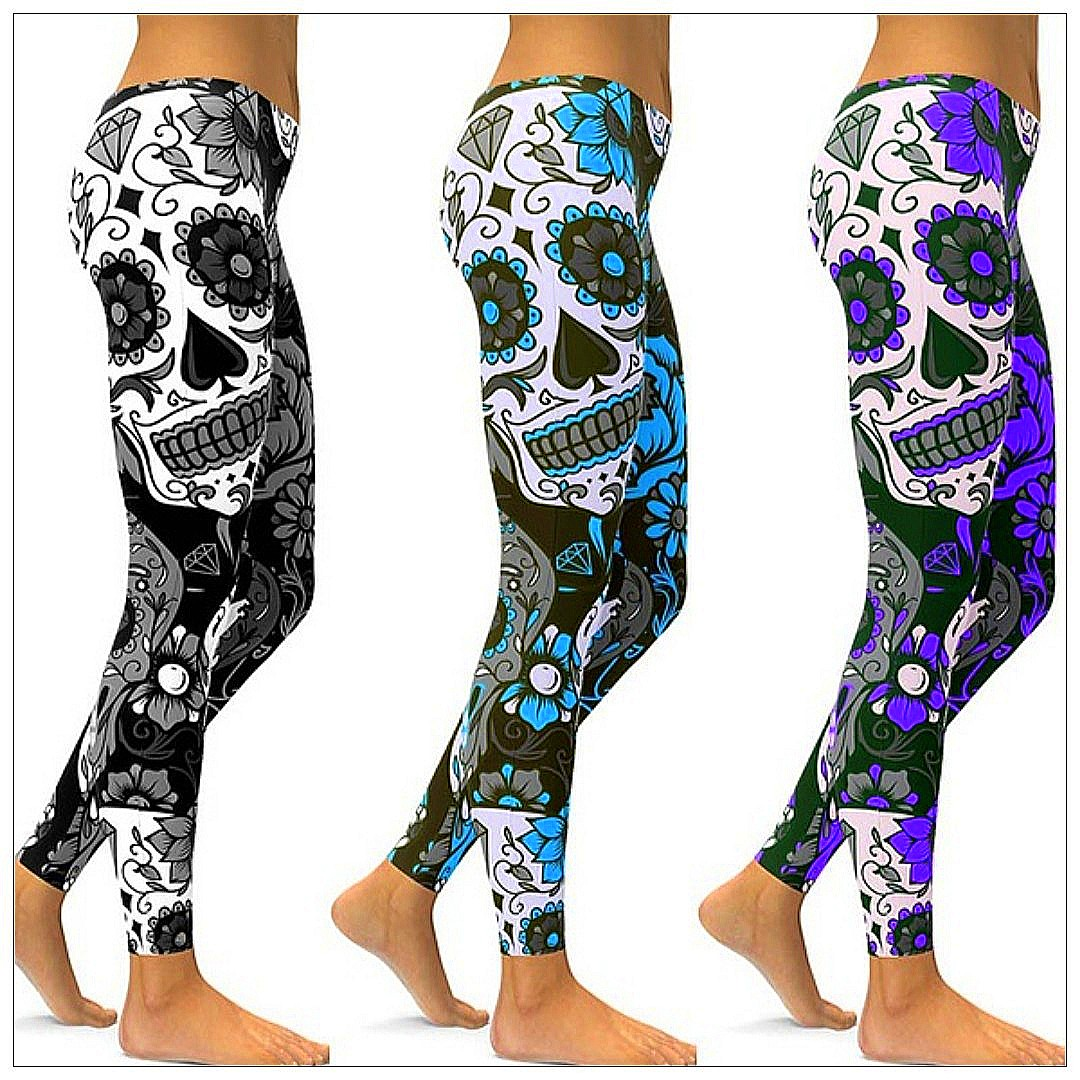 5568b8410b5de #24 📦◾[ 🅿re🅾rder ]◾📦Ninth Womens Summer Yoga Pants Skull Print Street  Fashion Leggings Sports Yoga Pants Plus Size Casual Wear Pants, Women's  Fashion, ...