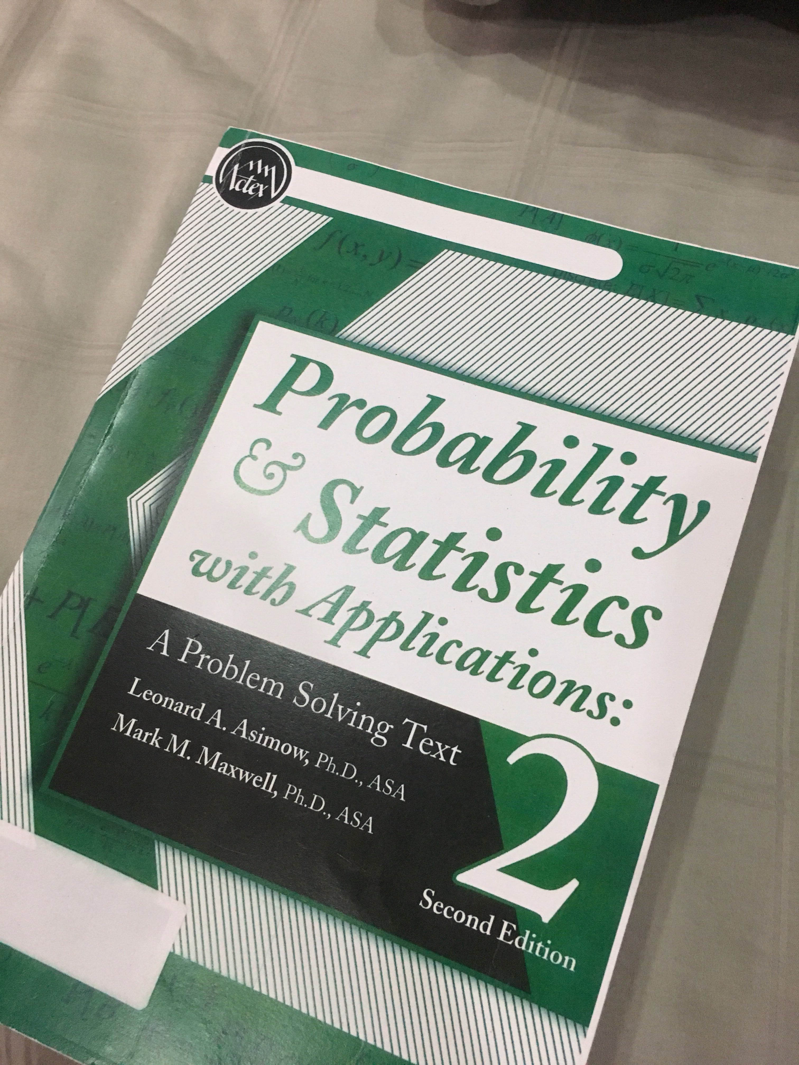 Actex Probability and Statistic with application