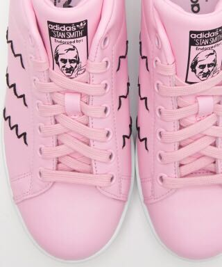 Adidas Stan Smith Originals baby pink 粉紅色搭黑色白色底波鞋 文青運動鞋Women trainer sneakers sport shoes