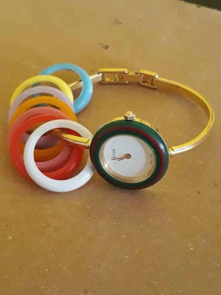 44ac715a990 Authentic preloved Gucci Bangle 8 bezels