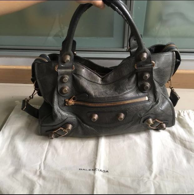 260c604181db Balenciaga giant city g21 hardware (anthracite with rose gold ...