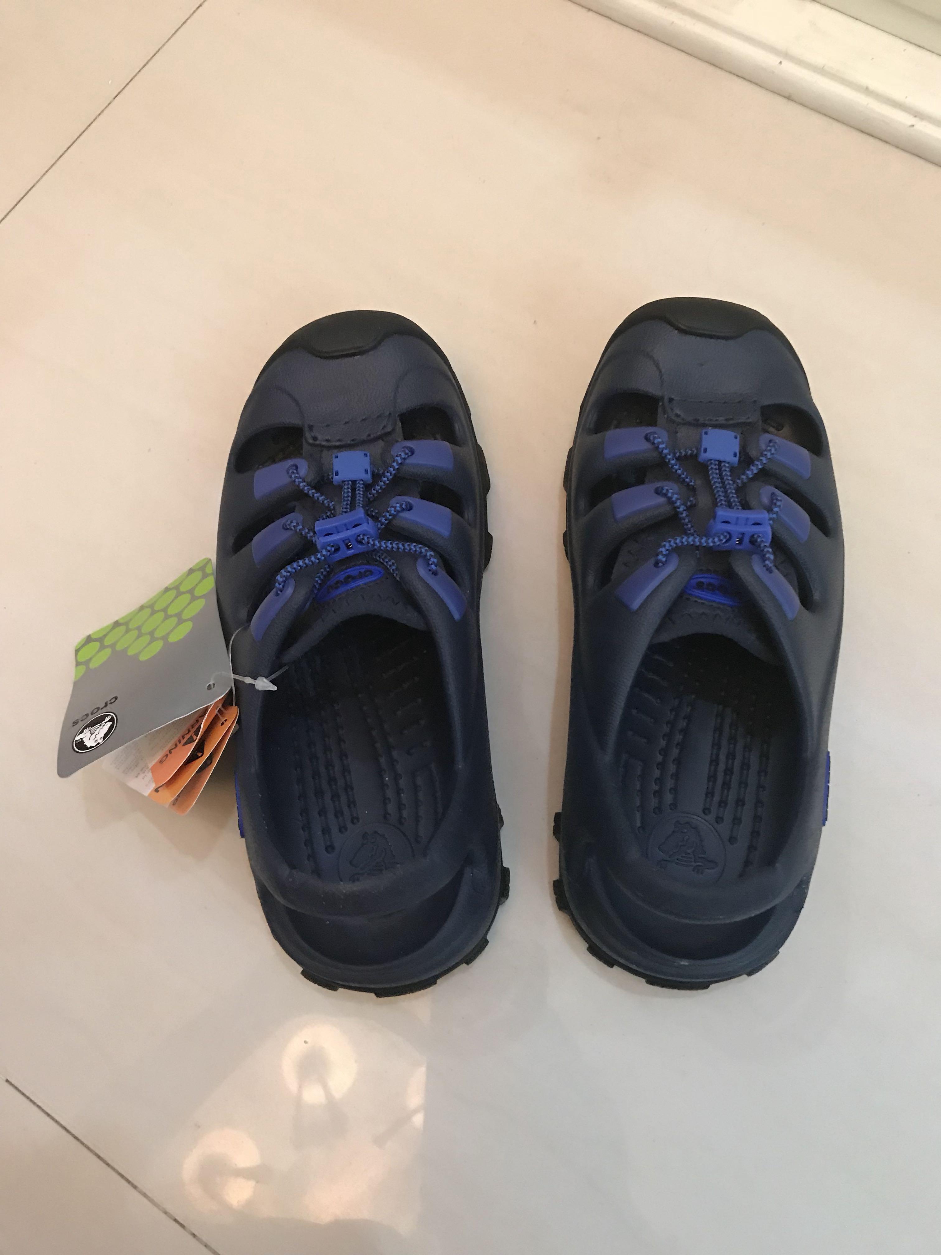 1e7471a4b46c Brand New Crocs Trailbreak Kids Adjustable Sandals J3 5
