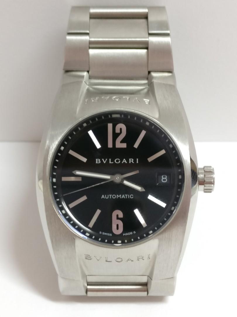 6f8bfbe0b04 Bvlgari Bulgari Ergon Automatic Watch 35mm Black Dial Stainless ...
