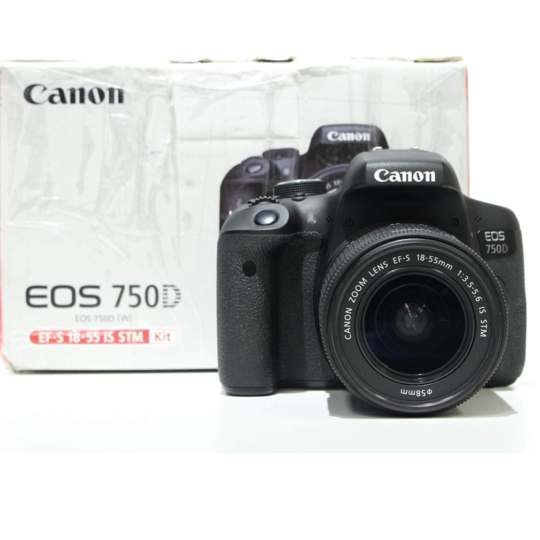 Canon EOS 750D DSLR with 18-55mm STM Kit Lens