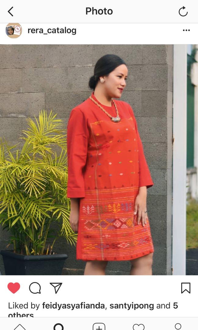 Dress Tenun Ulos Batak Women S Fashion Women S Clothes Dresses