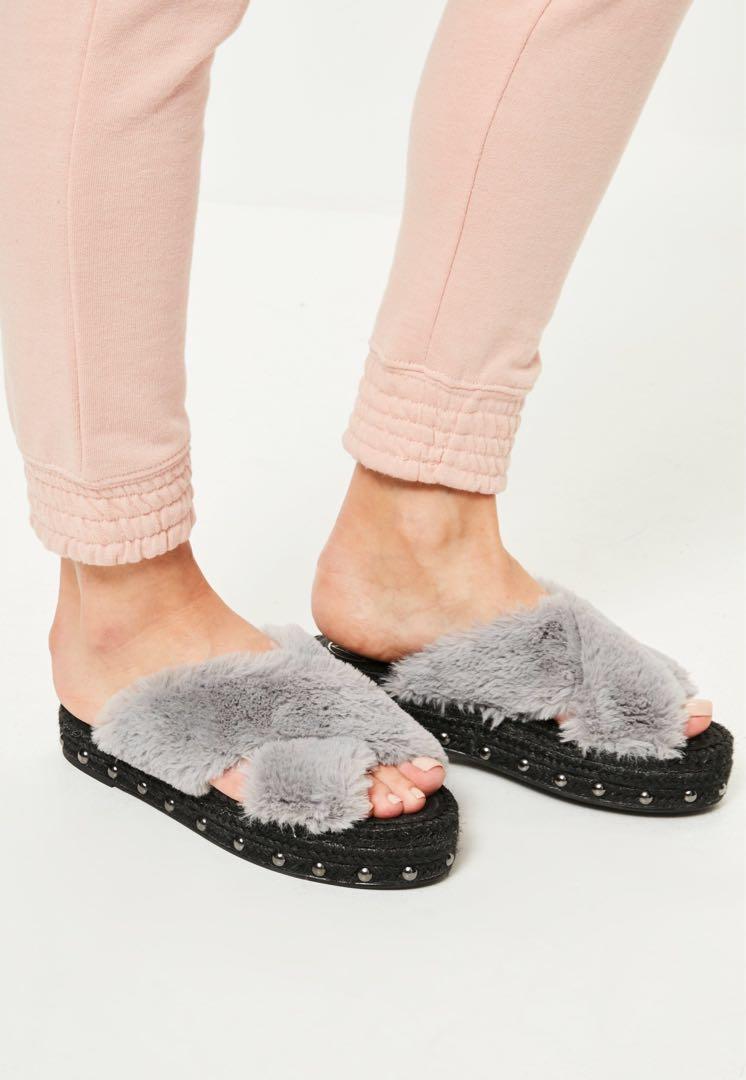Faux Fur Sliders