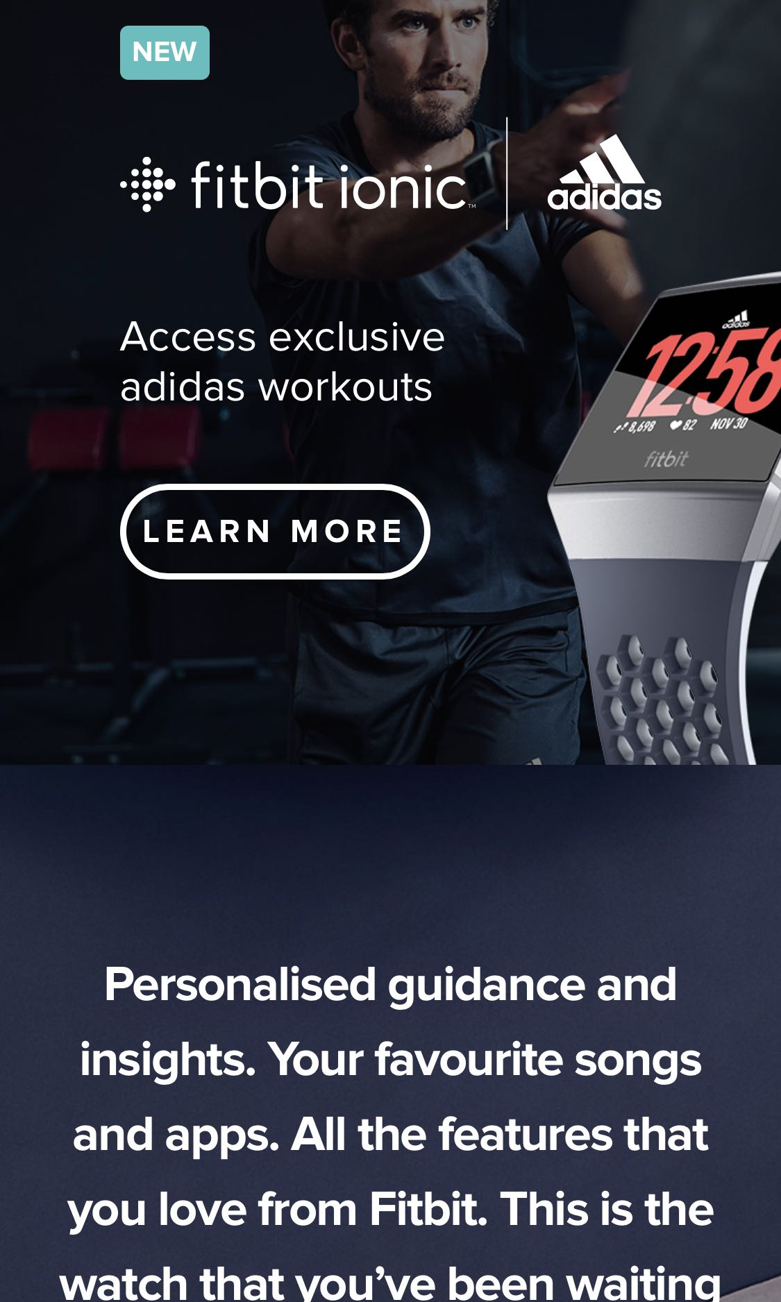 Fitbit Ionic Adidas Special Edition Electronics Others On Carousell